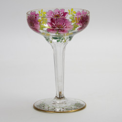 Meyers Neff Art Nouveau Enamelled and Gilded Champagne Coupe (c.1890)