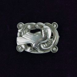 Georg Jensen Sterling Silver Bird and Fern Pin Brooch (c.1935)