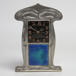 Antique Liberty & Co Tudric Pewter and Enamel Clock (c. 1903)