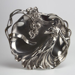 WMF Art Nouveau Maiden Silver Plated Visiting Card Tray (c.1900)