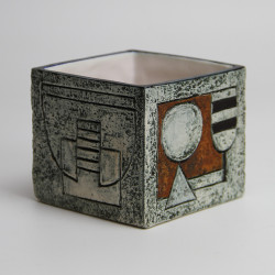 Troika (Cornwall) Cube Vase by M Murrell (c.1974)