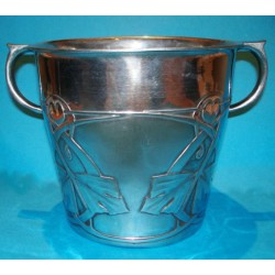 Archibald Knox for Liberty & Co pewter ice bucket. Marked - English Pewter 0705 (c.1903)