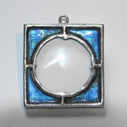 Arts and Crafts silver and enamel locket (c.1900)