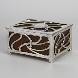 WMF Art Nouveau Silver Plated Filigree Box with Cedar Wood Lining (c.1900)