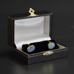 9 Carat Gold and Australian Opal Cufflinks (c.1935)