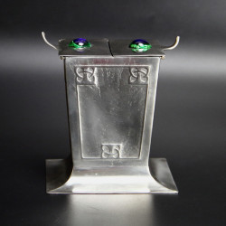 Osiris Art Nouveau Pewter Biscuit Box Designed by Archibald Knox (c.1907)