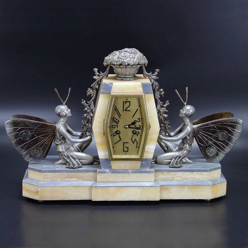 Art Deco French Eight Day Mantel Clock Signed P Seca (c.1930)