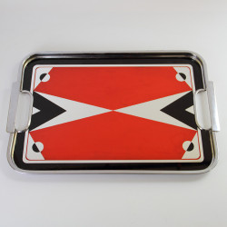 Art Deco Reverse Painted Glass Cocktail Tray (c.1930)