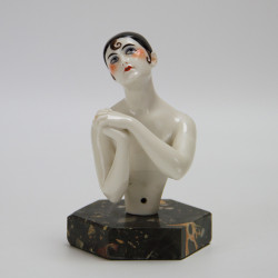 Large and Impressive Art Deco German Porcelain Half Doll (c.1925)
