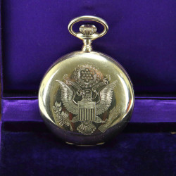 American 14 Carat Gold Pocket Watch Presented by Woodrow Wilson (1914)