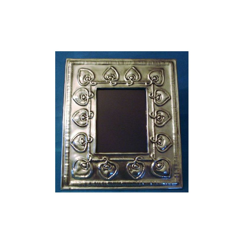 Archibald Knox for Liberty & Co pewter photo frame. Stamped marks - Tudric Hand Wrought Pewter Liberty & Co 0171 (c.1903)