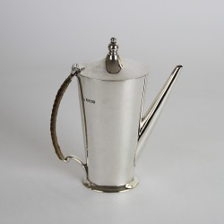 William Hutton Silver Coffee or Chocolate Pot London 1915