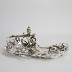 WMF Art Nouveau Silver Plated Card Tray. c.1906.