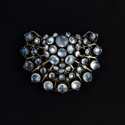 Dorrie Nossiter. Arts and Crafts Silver and Moonstone Large Clip (c.1930)