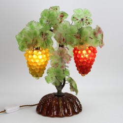 Murano Table Lamp with Two Bunches of Grapes c.1935
