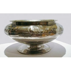 Archibald Knox for Liberty & Co pewter pedestal bowl. Stamped marks - model number 06. (c.1903)