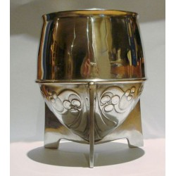 Archibald Knox for Liberty & Co pewter vase. Stamped - Tudric Liberty & Co 0225. (c.1903)