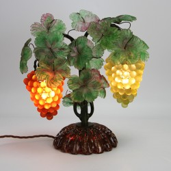 Murano Table Lamp with Two Bunches of Grapes. c. 1935.