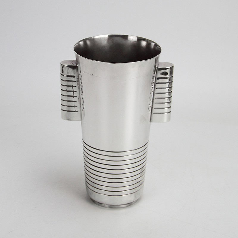 Luc Lanel Art Deco Silver Plated Wine Bottle Holder or Ice Bucket (c.1930)