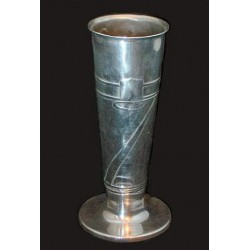 Archibald Knox for Liberty & Co pewter vase. Stamped marks - English Pewter 0356 (c.1903)