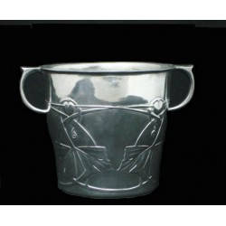 Archibald Knox for Liberty & Co antique pewter ice bucket. Stamped marks to base - No.0705. (c.1903)