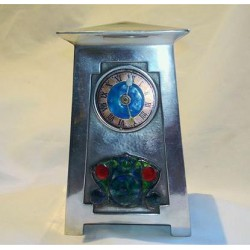 Archibald Knox for Liberty & Co Pewter and Enamel Clock (c.1903)