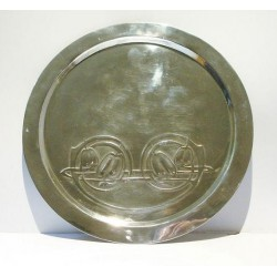 Archibald Knox for Liberty & Co pewter tray. Stamped marks - English Pewter 0163 (c.1903)