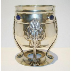 Bernard Cuzner for Liberty & Co Cymric silver and lapiz vase. Hallmarked London (1901)