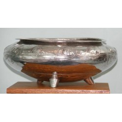 Antique Archibald Knox for Liberty & Co Pewter Rose Bowl. Stamped marks, model number 06 (c.1903)