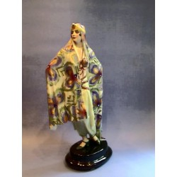 Goldshieder and Lorenzl Arabian Lady figural ceramic. Signed to top of base and Goldshieder marks to base (c.1928)