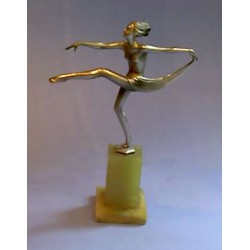 Josef Lorenzl Scarf Dancer bronze figure. Signed to base (c.1930)