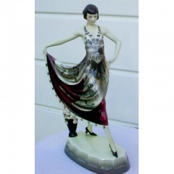 Goldschieder Dancer Ceramic Figure. Marks to base (c.1930)