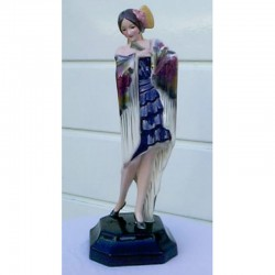 Goldschieder Spanish Lady Ceramic Figure. Signed Lorenzl (c.1930)