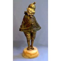 D.H. Chiparus Little Clown bronze and ivory figure. Signed to bronze (c.1925)