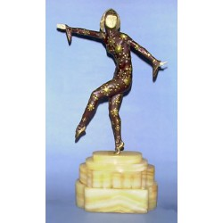 D.H. Chiparus Solo Bronze & Ivory Figure, Signed to base. Also marked Etling Paris (c.1925)