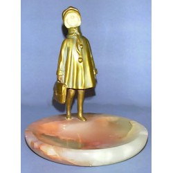 D.H. Chiparus Little School Girl Bronze and Ivory Figure (c.1920)