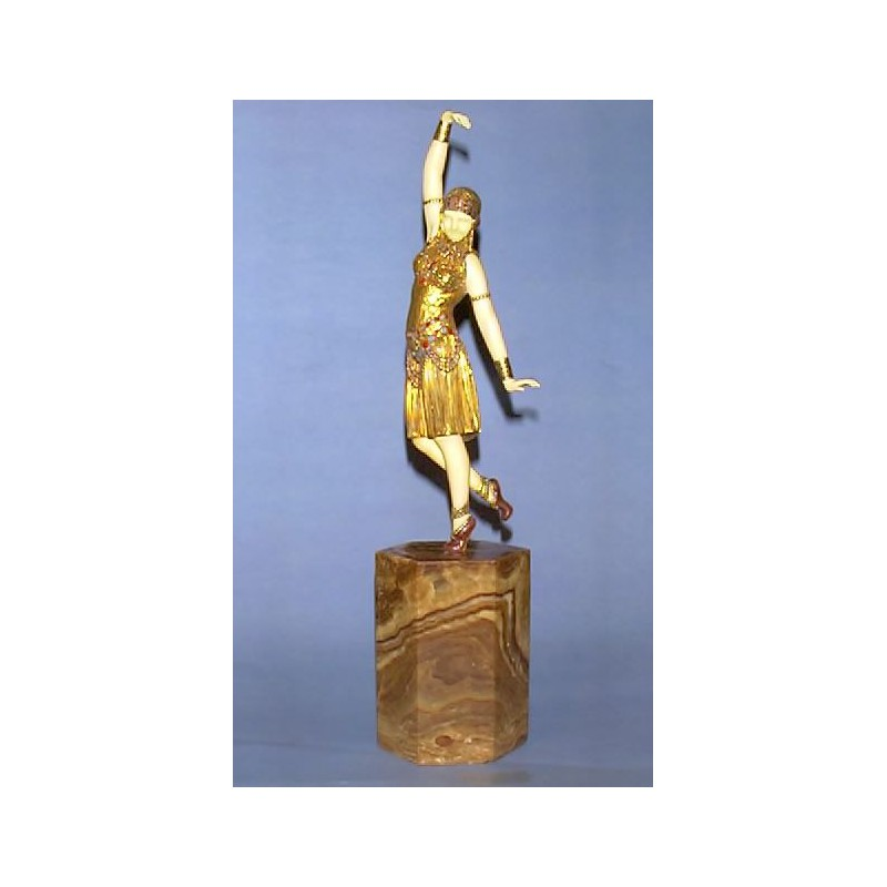 D H Chiparus Dancer of Lebanon Bronze and Ivory Figure. Signed to base (c.1925)