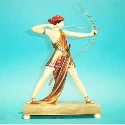 Ferdinand Preiss Archer bronze and ivory figure. Signed to base (c.1930)