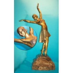 D. H. Chiparus Vedette bronze figure. Signed to base additional foundary mark to foot - Les N. deJN (1925)