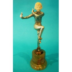 Josef Lorenzl bronze and ivory figure. Signed to bronze socle (c.1930)