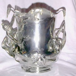 Antique WMF pewter ice bucket (c.1900)