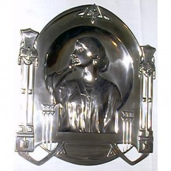 Antique WMF Pewter Wall Plaque. Model No. 560 (c.1905)