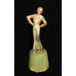 Josef Lorenzl bronze female figure (c.1925)