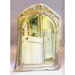 Probably by Kuser. Austrian Pewter Mirror (c.1905)