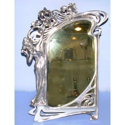 Large antique French easel mirror.  Stamped marks: 53 (c.1900)