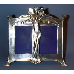 Antique WMF double photo frame. Stamped Marks (c.1900)
