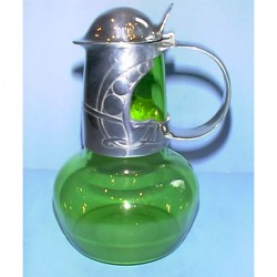Antique Archibald Knox for Liberty & Co Powell glass decanter.