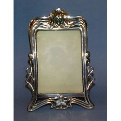 Antique WMF picture frame with a female head motif. Stamped marks (c.1900)