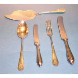Antique WMF twenty five piece flatware set with stamped marks (c.1900)
