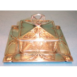 Antique WMF Butter Dish. Stamped marks (c.1900)